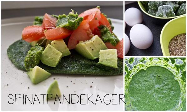 Grønne glutenfri spinatpandekager …