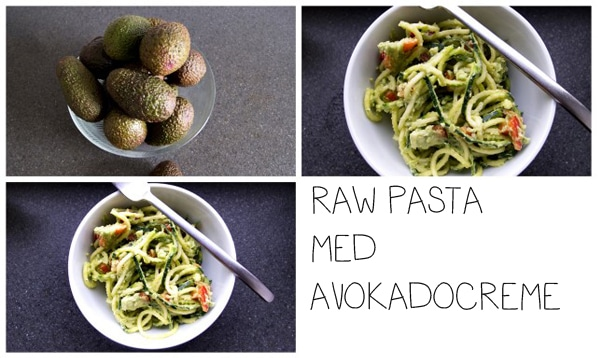 Raw pasta med avokadocreme…
