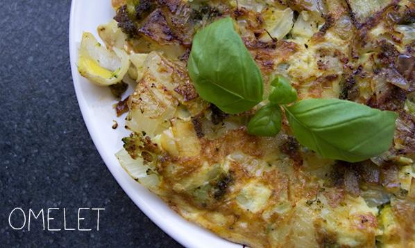 Frokost omelet med broccoli og hytteost…