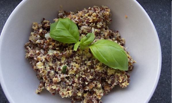 Scrambled quinoa …