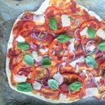 Veggiepizza med sde juliebruunsblog vi fejrer at jeg har bestethellip