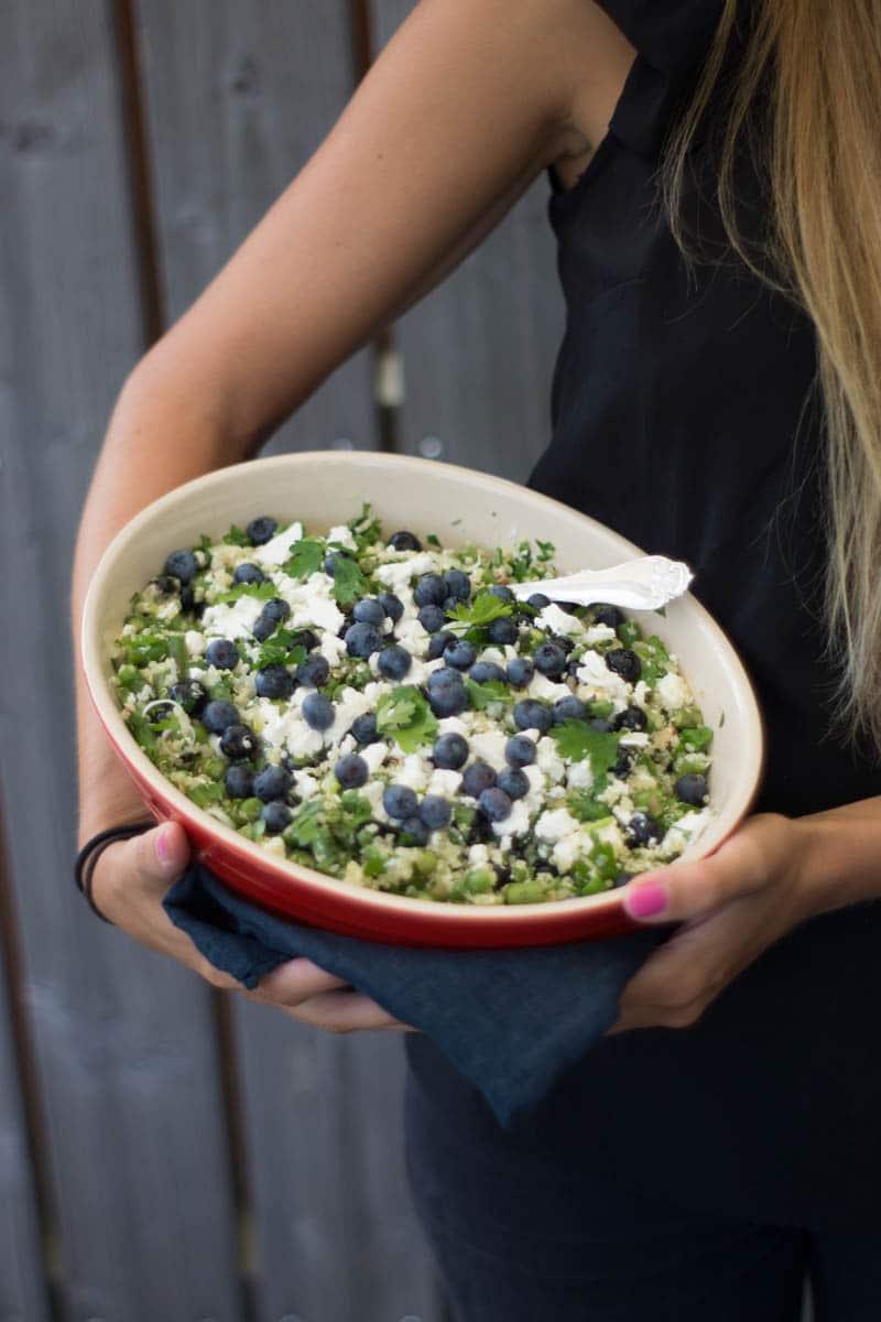 Quinoasalat med persille og feta