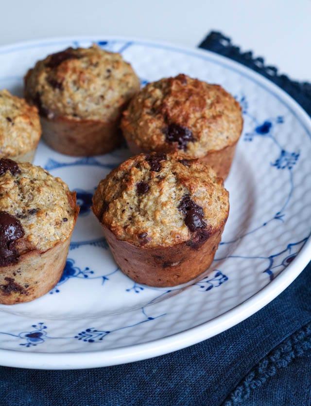 Bananmuffins uden sukker (glutenfri og laktosefri )
