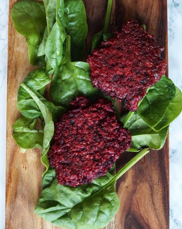 Rødbededeller - vegetariske deller med rødbede