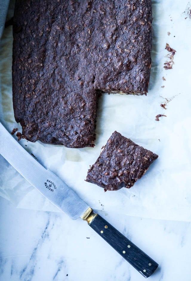 Sund chokoladekage på en grå mandag