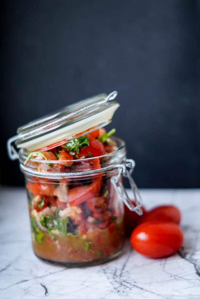 Spicy tomat salsa