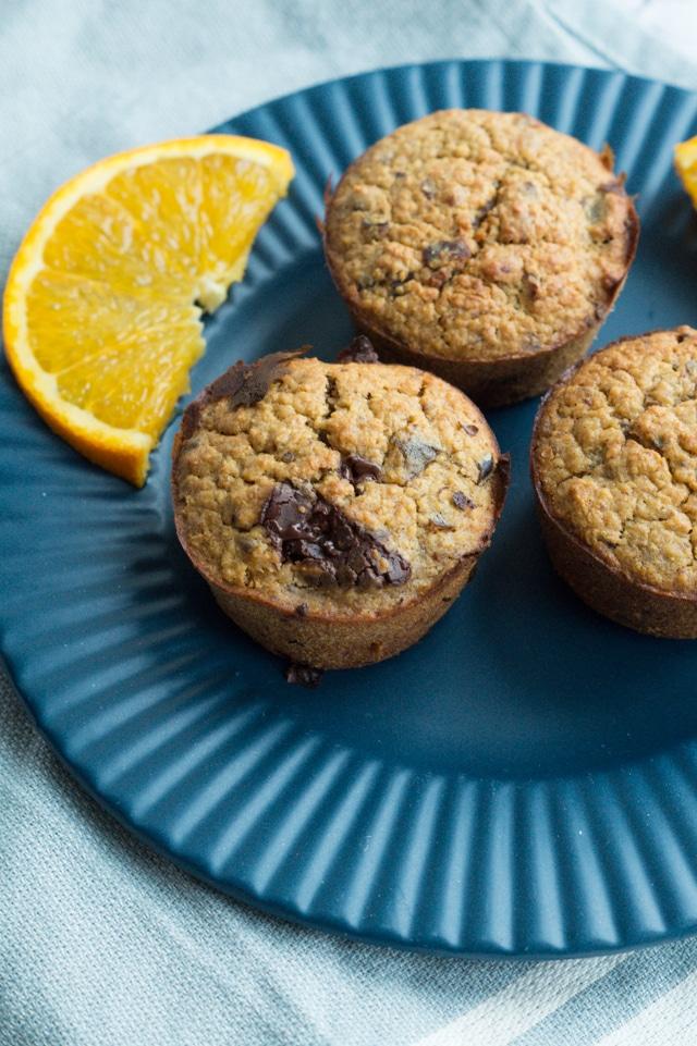 Appelsin-chokolade muffins