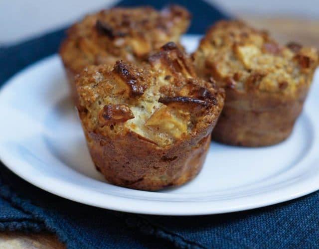 Sunde æblemuffins – perfekte til madpakken