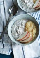Chiagrød med kanel og æblemos