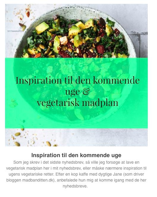 Tilmeld dig mit nyhedsbrev og få min vegetariske madplan