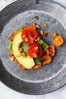 Vegetarisk sweet potato pizza