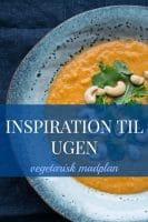 Ny vegetarisk madplan – inspiration til ugen