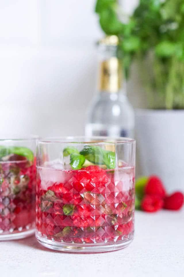 Den bedste cocktail – gin og tonic med hindbær og basilikum