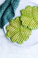 Spinatvafler – nemme grønne madvafler