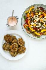 Quinoadeller – vegetariske deller med quinoa og feta