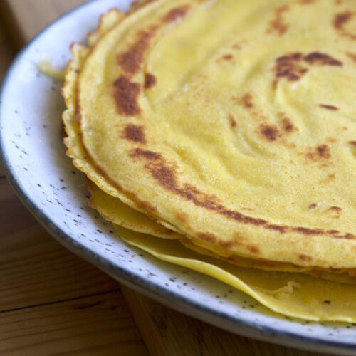 Majspandekager - pandekager lavet af majsmel