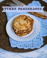 Små sundere tykke pandekager (uden tilsat sukker og glutenfri)