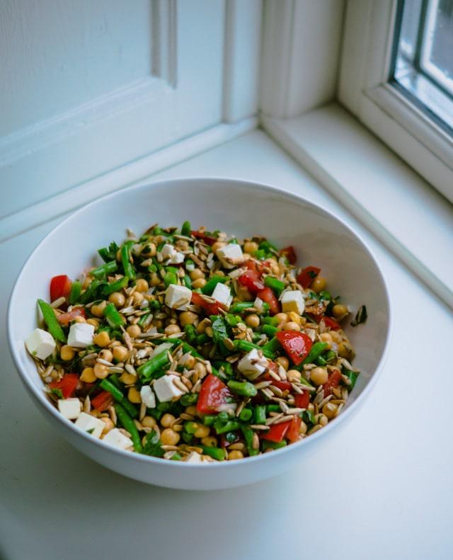 Bønnesalat med feta