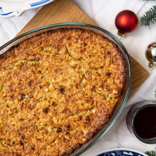 Nøddepostej - vegetarisk julealternativ til kød