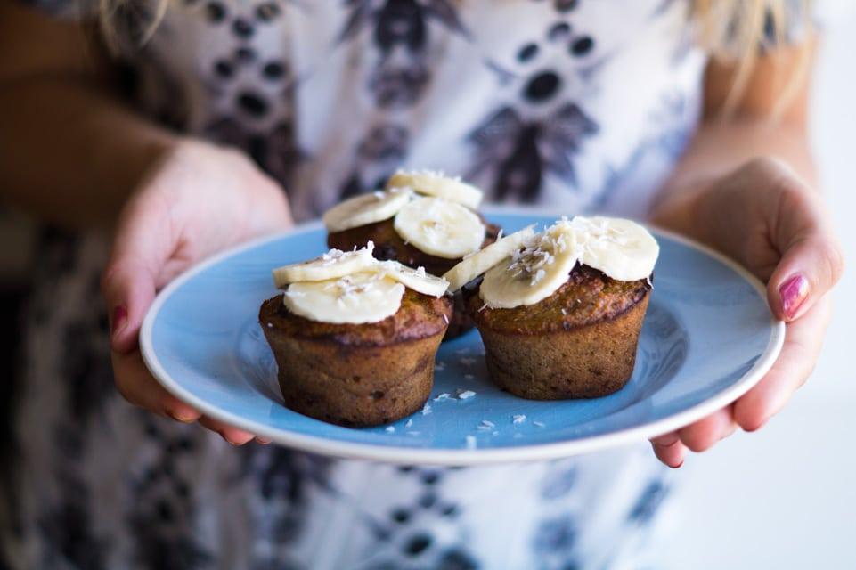 sunde bananmuffins