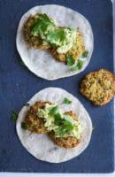 Ovnbagte grønne falafler