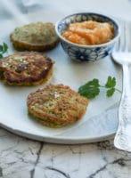 Vegetardeller med spinat og mangochutney
