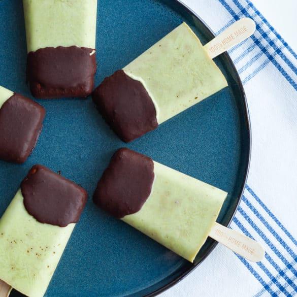 Avocado-mynte is med chokolade