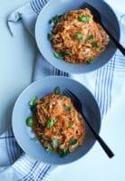 Spaghetti med blomkåls-tomatsauce