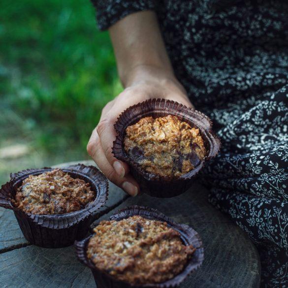 Emmas kokosmuffins med chokolade og mandler