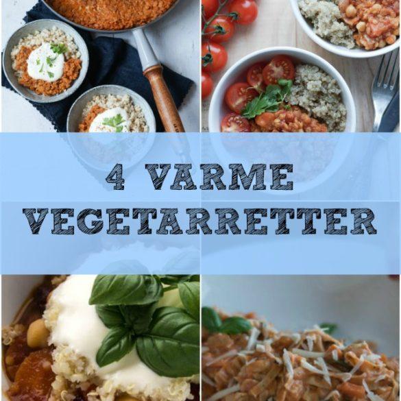 4 varme vegetarretter