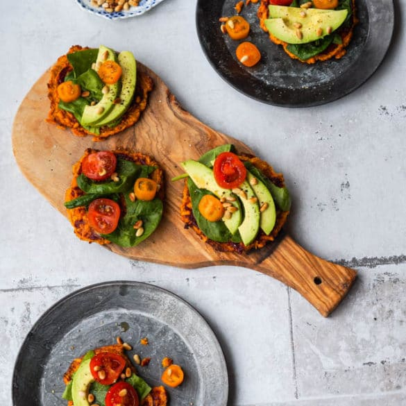 Vegetarisk sweet potato pizza