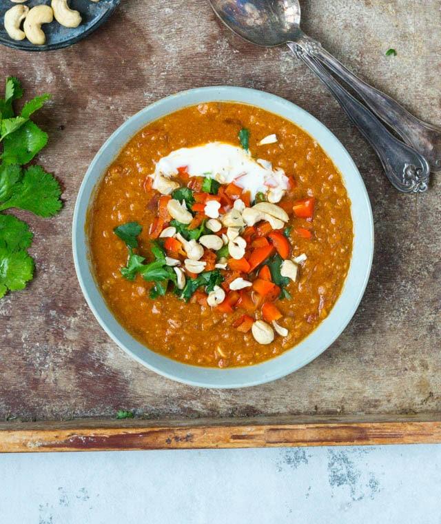 Indisk vegetarisk suppe