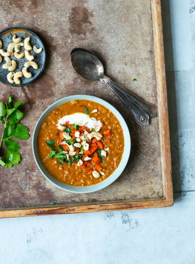 Indisk vegetarisk suppe