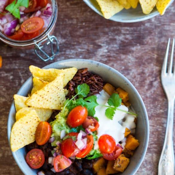 Vegetarisk burrito Bowl