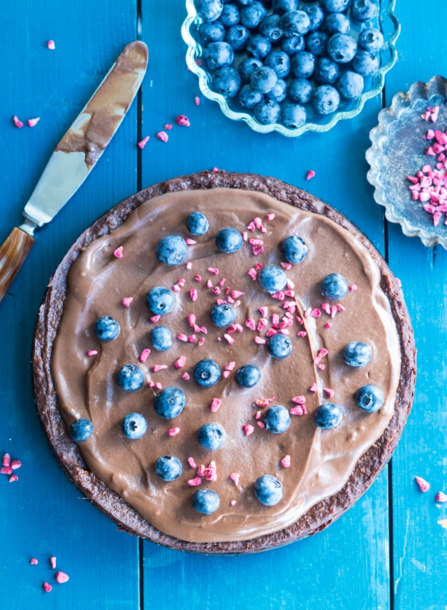 Sweet potato brownie med chokolade ganache