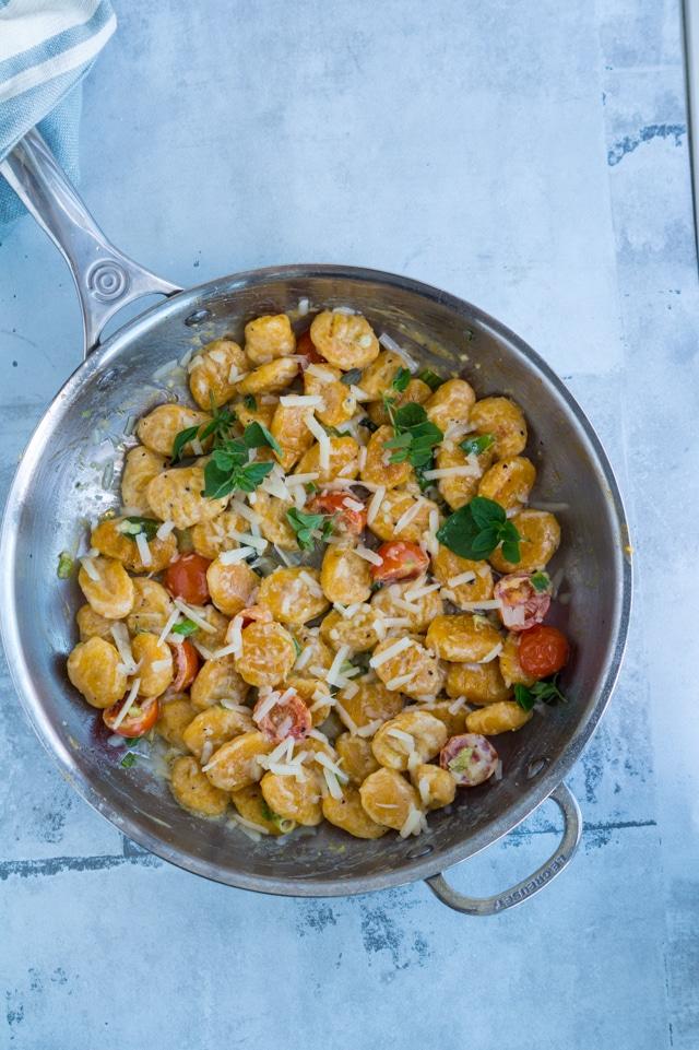 Gnocchi af søde kartofler