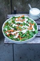 Salat med bagte gulerødder og feta-dressing