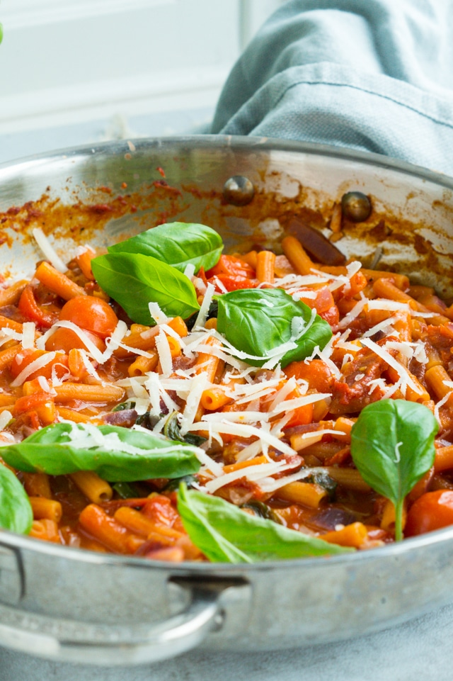 Vegetarisk one-pot pasta