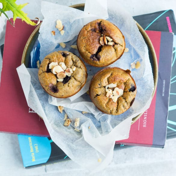 Sundere blåbærmuffins - til madpakken