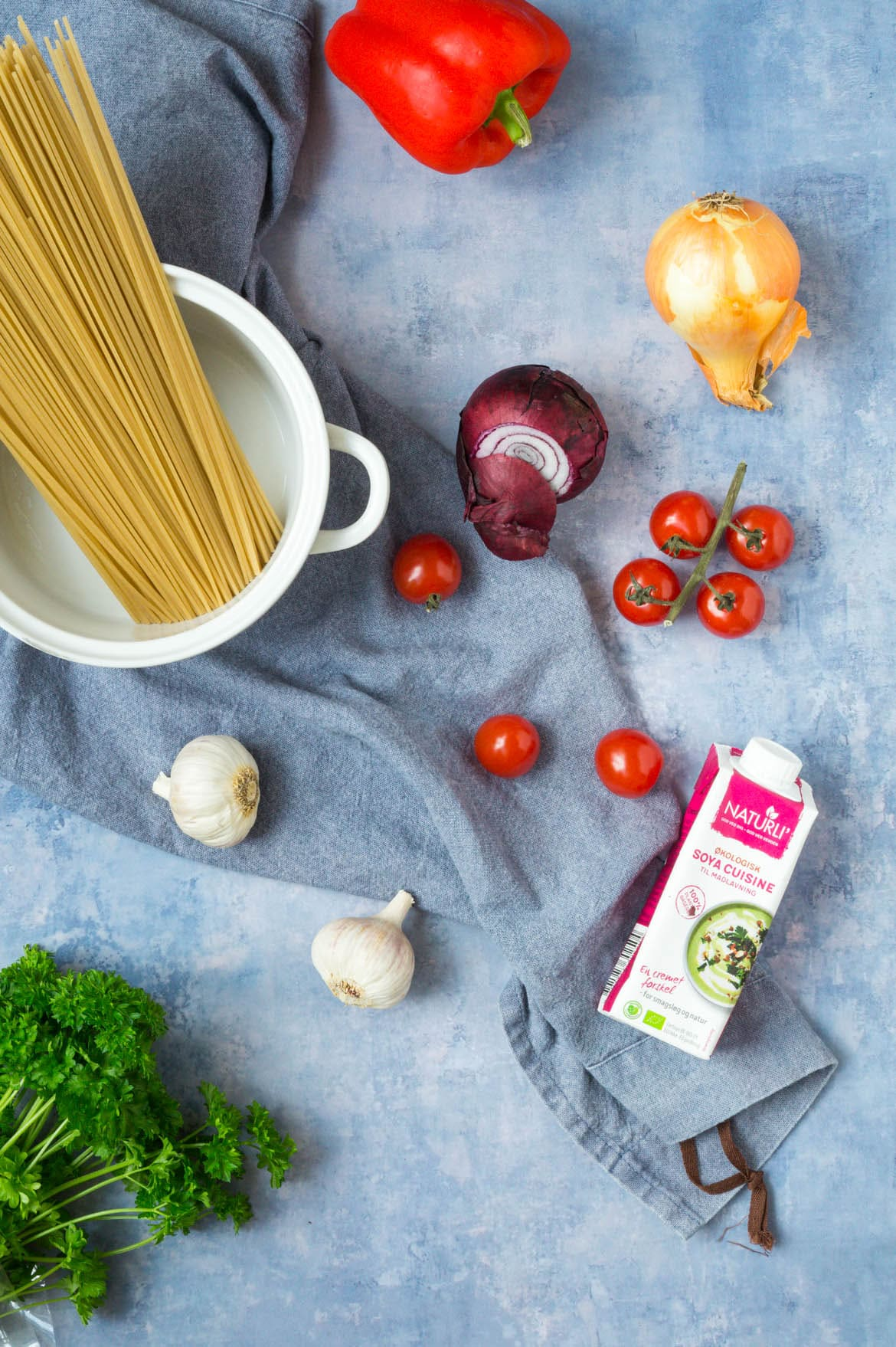 Vegetarisk cremet one-pot pasta