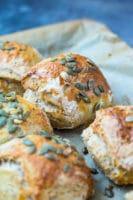 Koldhævede boller med græskar – græskarboller