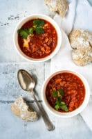 Vegetarisk borscht – suppe med rødbede