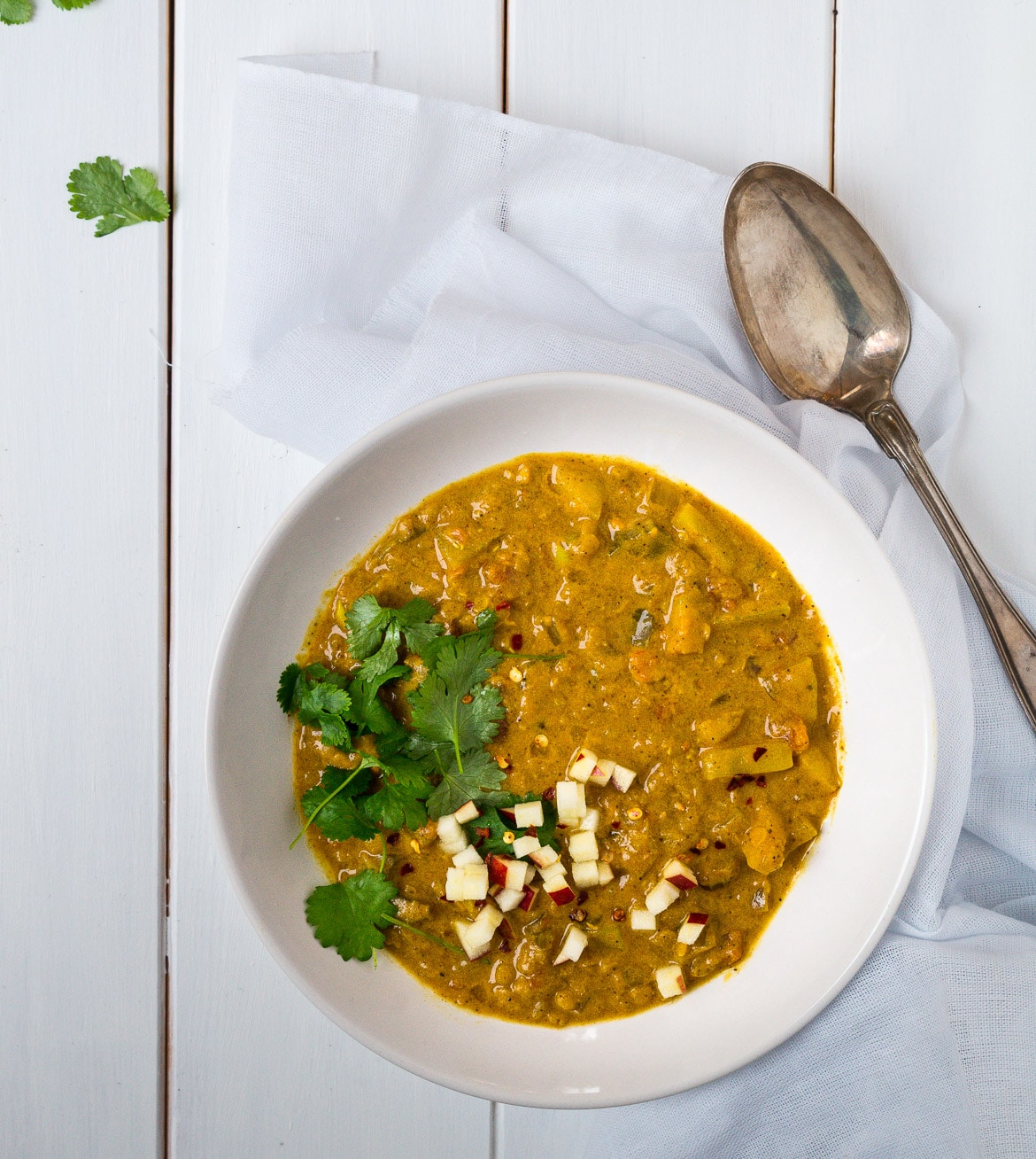 Mulligatawny - vegetarisk indisk suppe