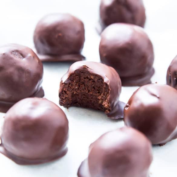 Chokoladetrøfler med bønner