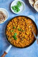 Indisk vegetarret – kikærter i cashewnødde-sauce
