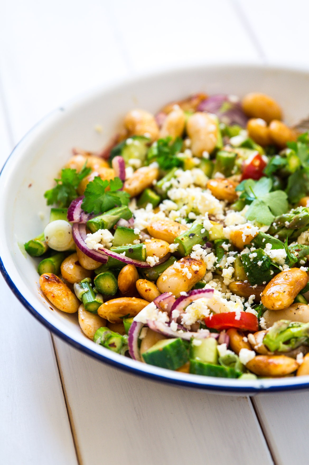 Salat med butterbeans, persille og feta