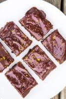 Brownie med appelsin-chokolade ganache