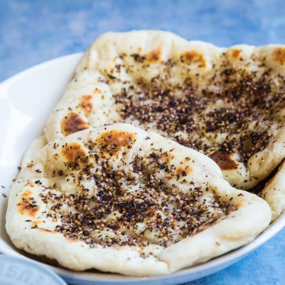 Naanbrød med za'atar – pandebrød med krydderier