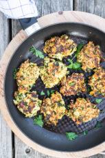 Squashfrikadeller – vegetardeller med squash og parmesan