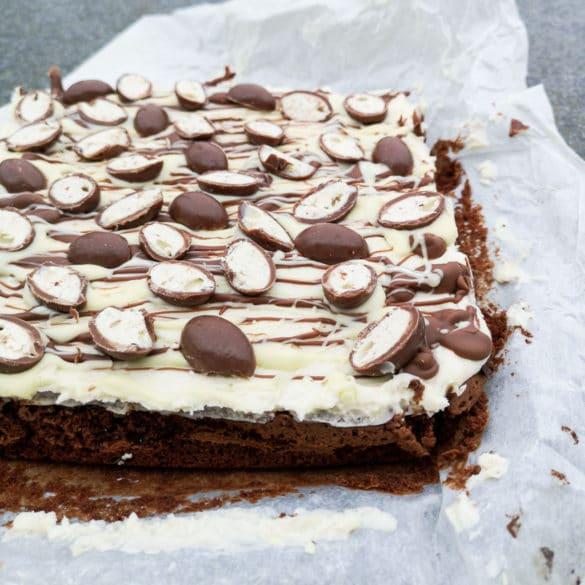 Kinder-brownie - lækker brownie med kinder